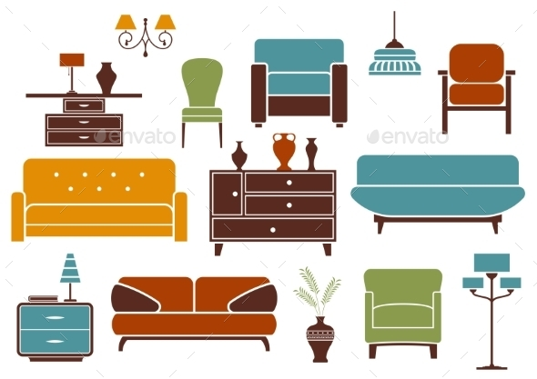 GraphicRiver Furniture and Interior Design Elements 10640580