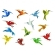 Abstract Origami Hummingbirds - GraphicRiver Item for Sale