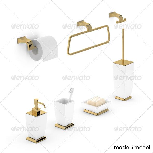Bath accessories Gessi Mimi - 3DOcean Item for Sale
