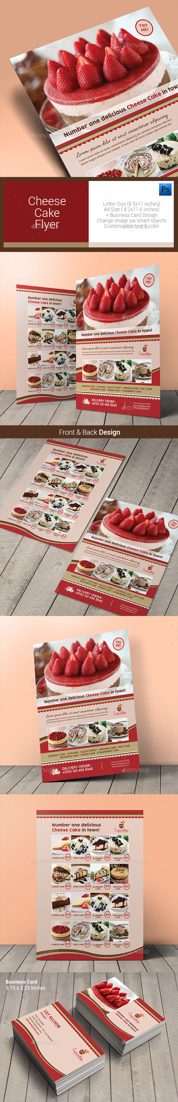 GraphicRiver Cheese Cake Menu Flyer 10640856