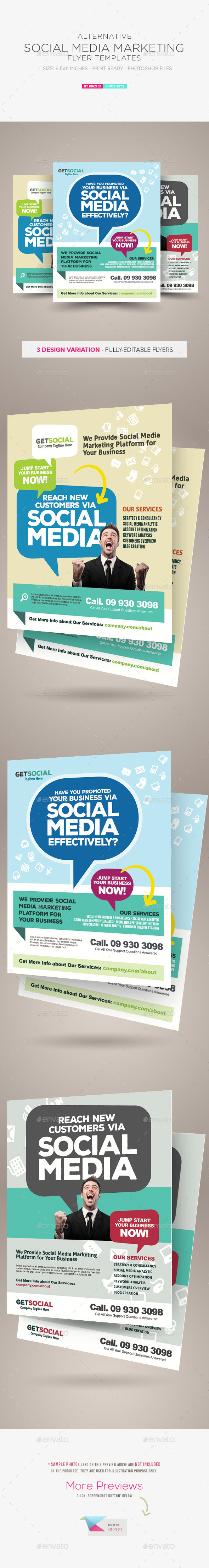 GraphicRiver Social Media Marketing Flyer Templates 10640977