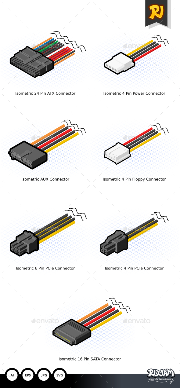 GraphicRiver Isometric Computer Connectors 10641025