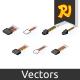 Isometric Computer Connectors