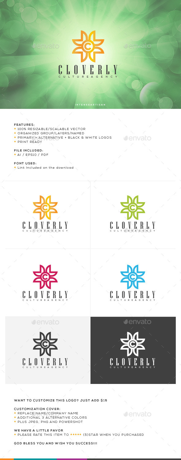 GraphicRiver Cloverly Logo Template 10641212