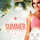 Flyer Summer Beach Party Girl - GraphicRiver Item for Sale