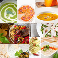 healthy and tasty Italian food collage - PhotoDune Item for Sale