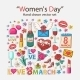Womens Day Icons - GraphicRiver Item for Sale