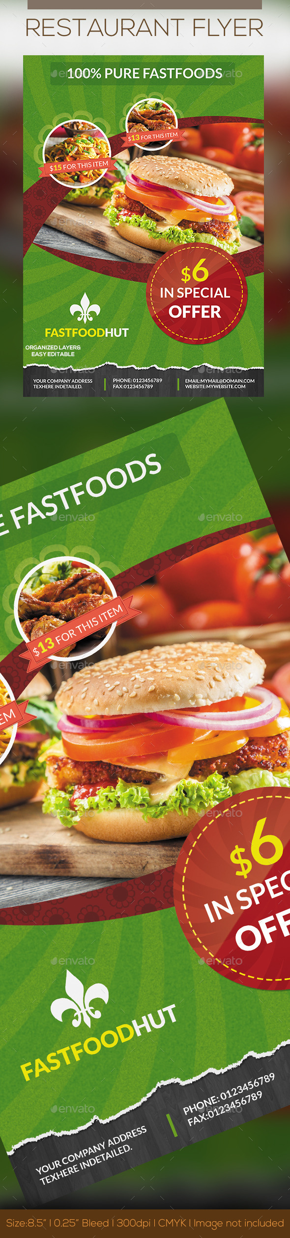 GraphicRiver Foods Flyer 10641291