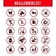 Allergen Free Products Icons - GraphicRiver Item for Sale