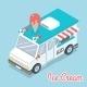 Isometric Ice Cream Truck  - GraphicRiver Item for Sale