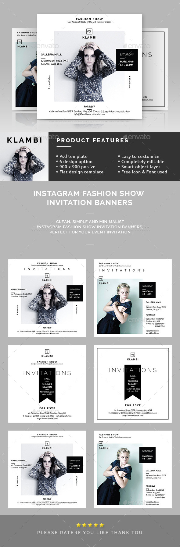 GraphicRiver Instagram Fashion Show Invitation Banners 10641526