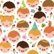 Kids at a Birthday Party Seamless Pattern - GraphicRiver Item for Sale