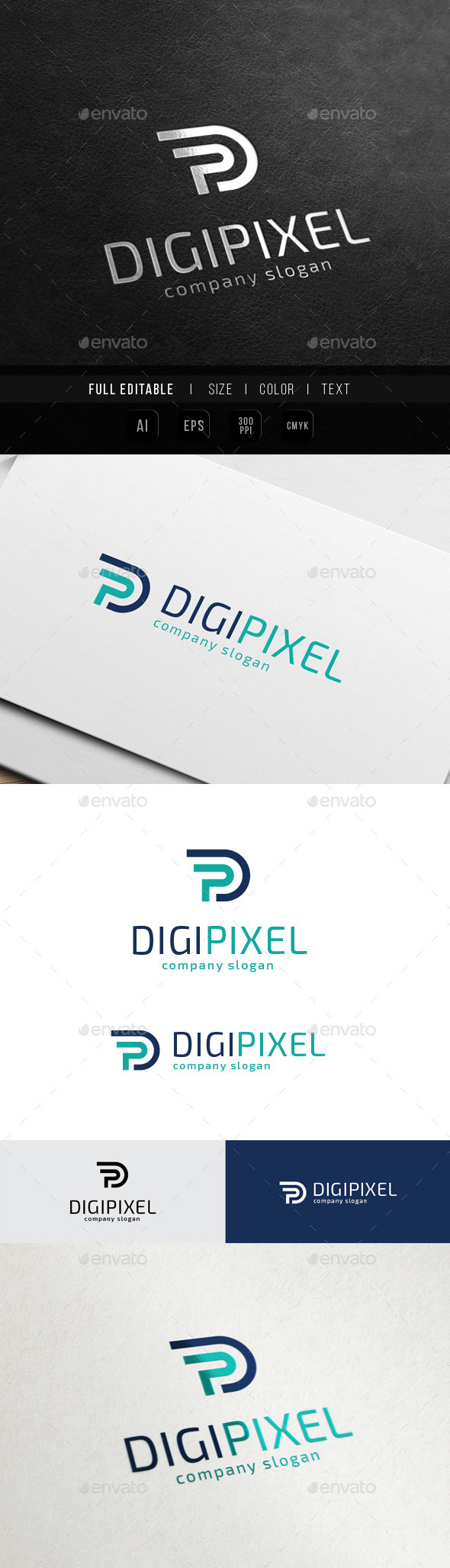 GraphicRiver Digital Production Letter P PD 10641608