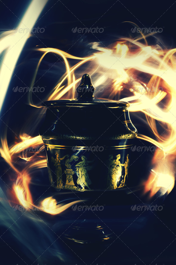Long Exposure Magic Greek Mythology Ornament  - Stock Photo - Images