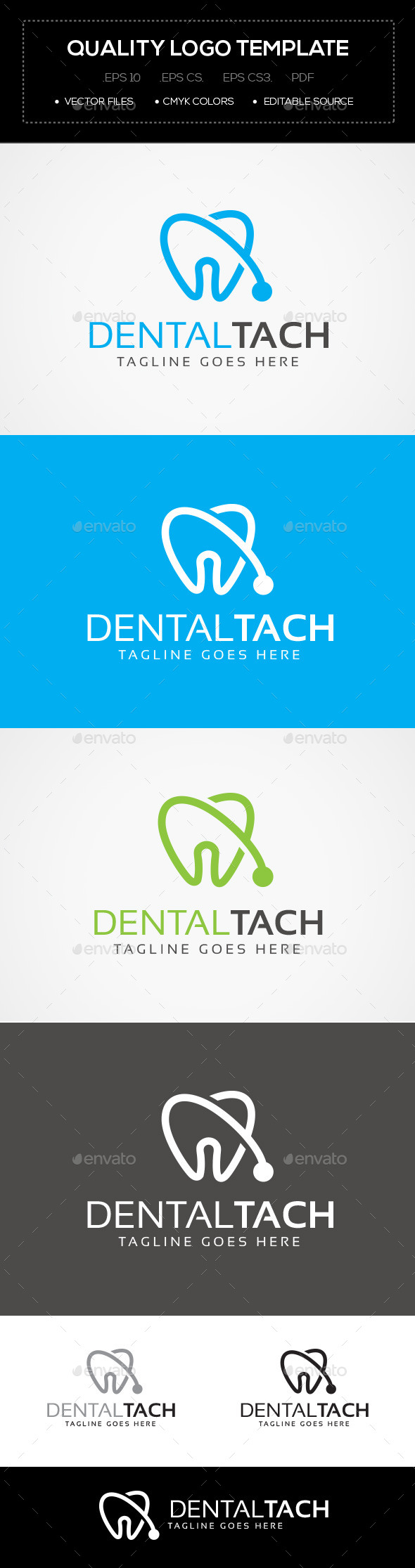 GraphicRiver Dental Tach Logo Template 10641672
