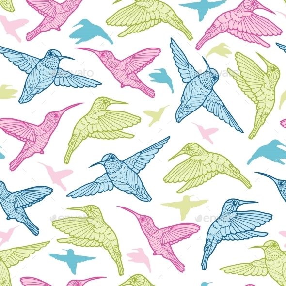 GraphicRiver Hummingbird Pattern 10641677