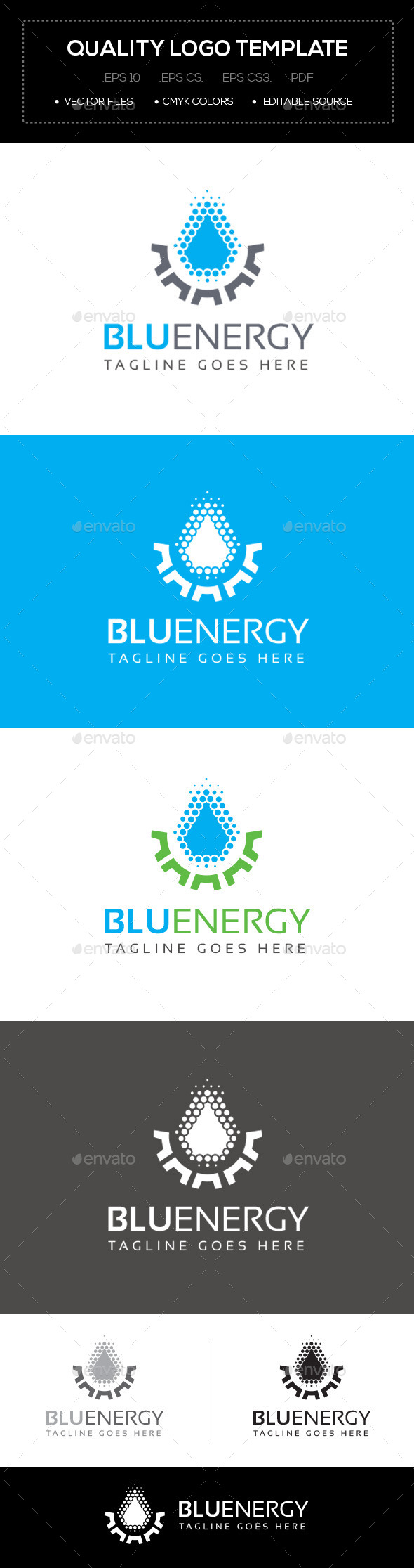 GraphicRiver Blu Energy Logo Template 10641702