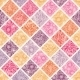 Floral Mosaic Tiles Seamless Pattern Background - GraphicRiver Item for Sale
