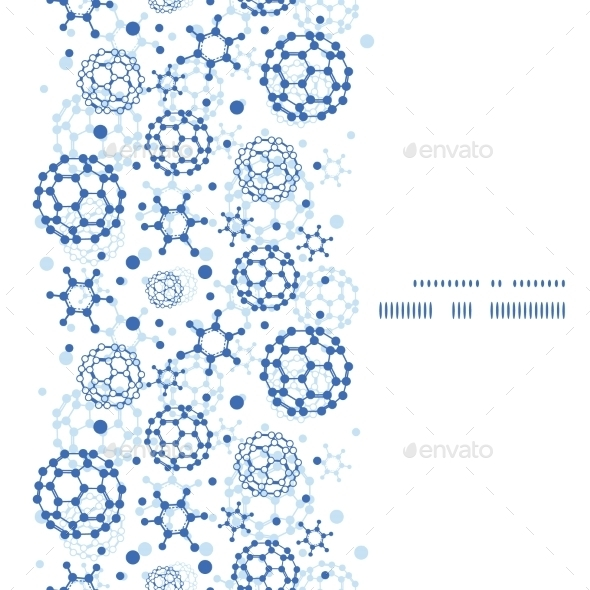 GraphicRiver Vector Blue Molecules Texture Vertical Frame 10641734