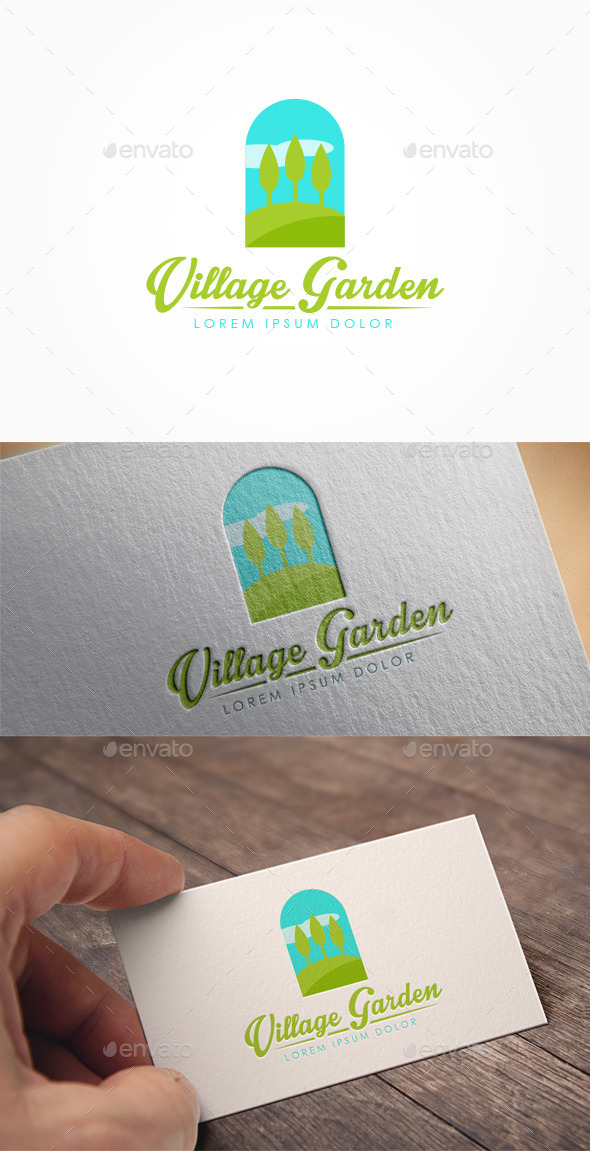 GraphicRiver Village Garden Logo 10642139