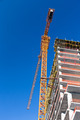 Construction site with yellow tower crane - PhotoDune Item for Sale