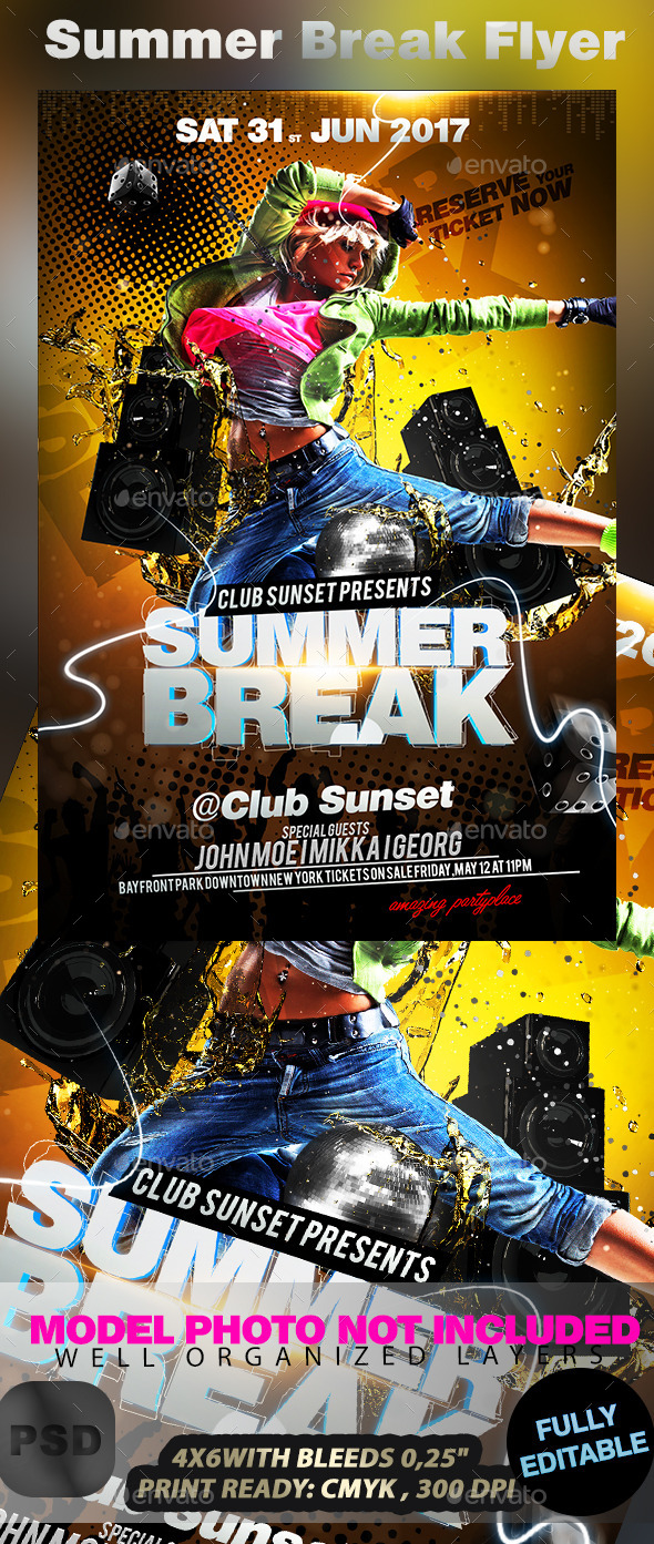 GraphicRiver Summer Break Flyer 10642239