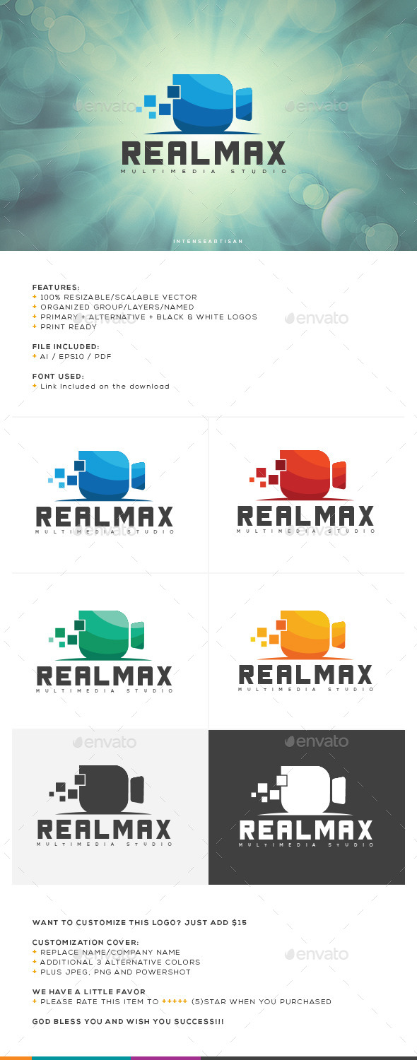 GraphicRiver Realmax Logo Template 10642349