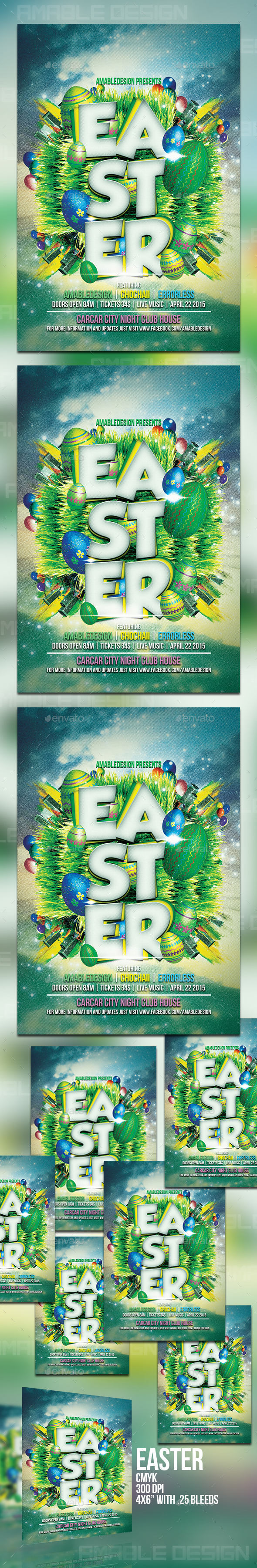GraphicRiver Easter Flyer 10642356