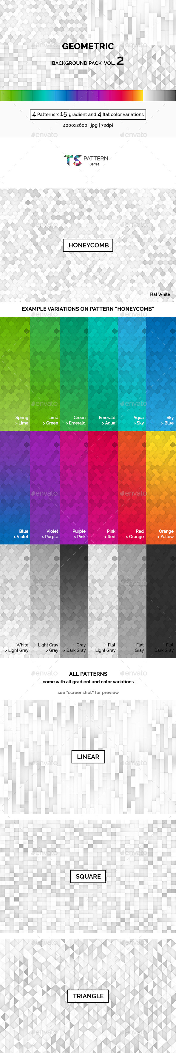 GraphicRiver Geometric Background Pack Vol.2 10583828