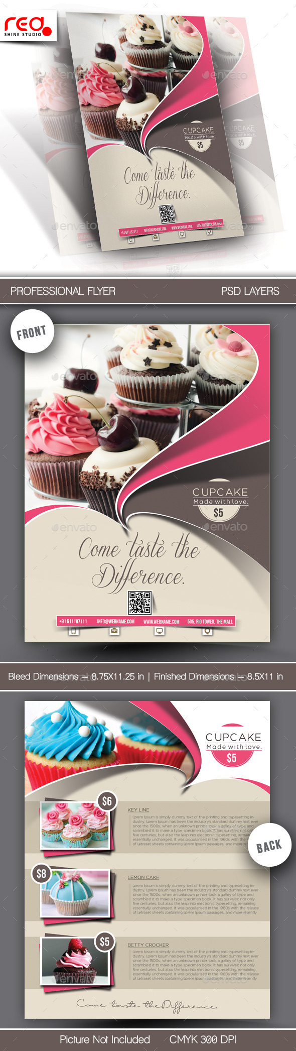 GraphicRiver Cupcake Flyer & Poster Template 10642561