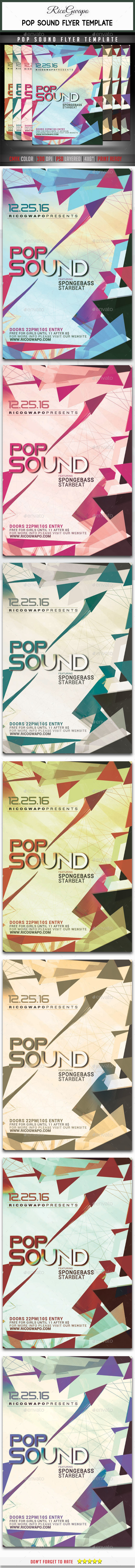 GraphicRiver Pop Sound Flyer Template 10642592