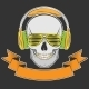 Skull with Headphones and Sunglasses - GraphicRiver Item for Sale