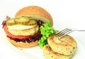 Vegan sea burger isolated on white background - PhotoDune Item for Sale