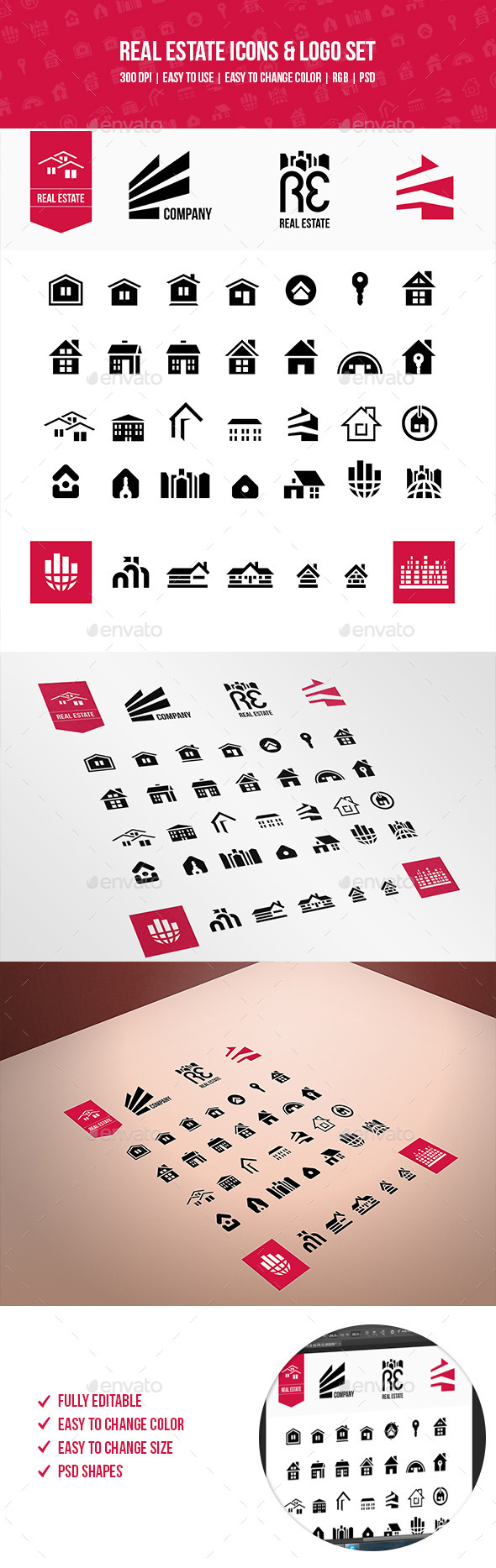 GraphicRiver Real Estate Icons & Logo Set 10642923