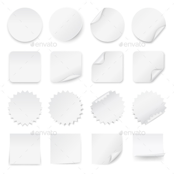 GraphicRiver Blank White Labels 10642922
