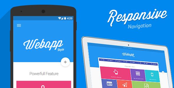CodeCanyon Webapp Material Design Responsive Drop Down Menu 10606107