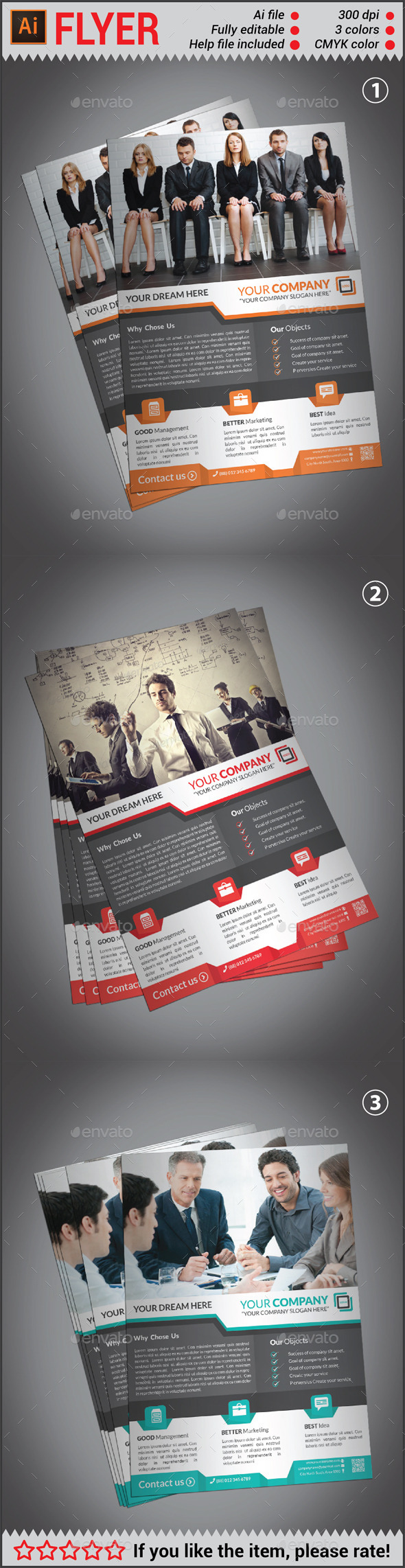 GraphicRiver Creative Corporate Flyer 10643098