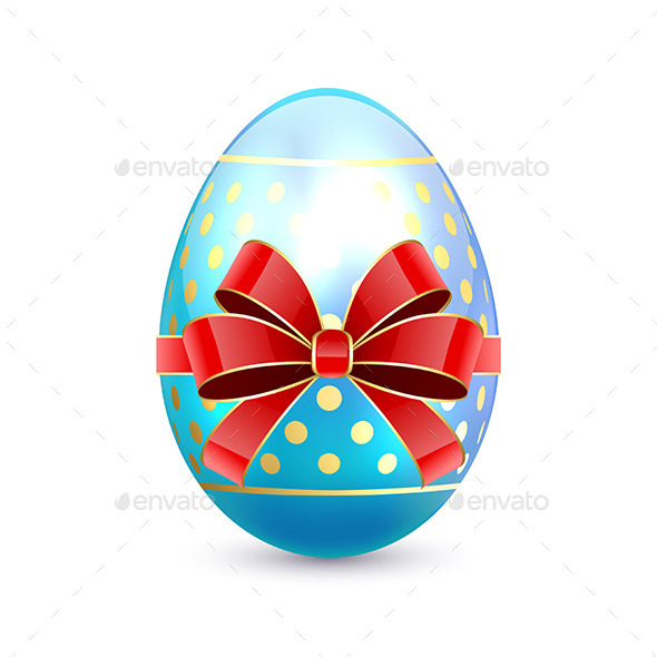 GraphicRiver Easter Egg with Red Bow 10643105
