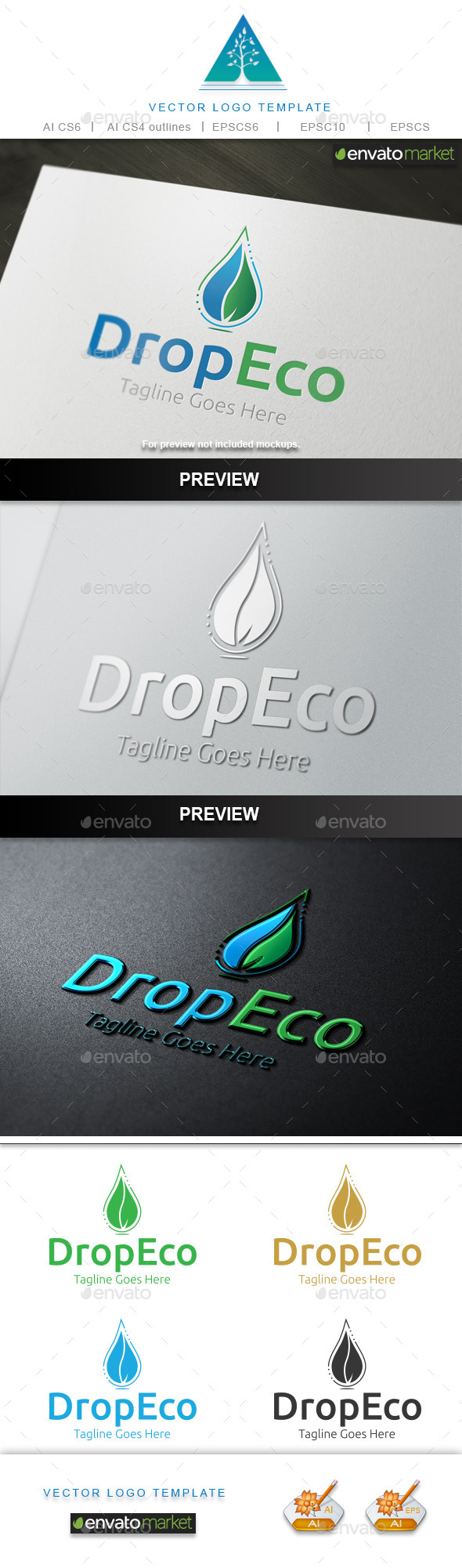 GraphicRiver Drop Eco Logo 10643158