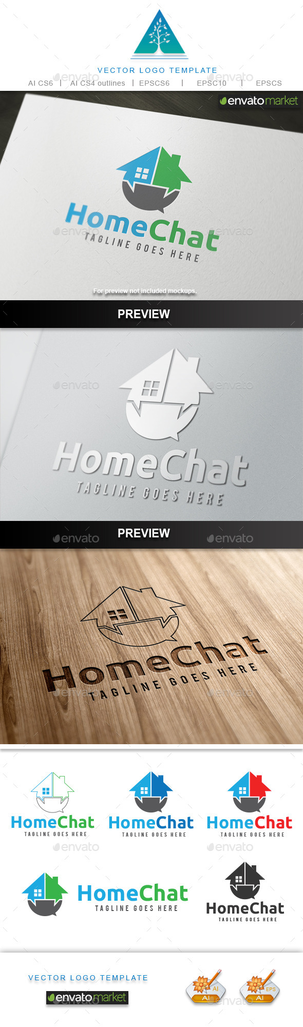 GraphicRiver Home Chat Logo 10643169