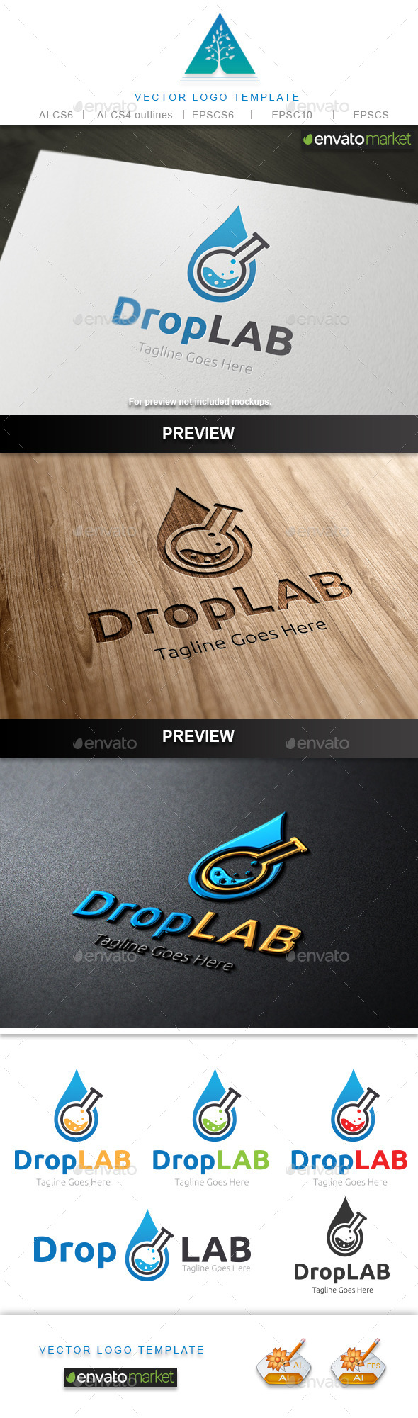 GraphicRiver Drop Lab Logo 10643225