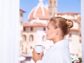 Drinking coffee on the balcony - PhotoDune Item for Sale