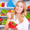 Beautiful woman eating strawberry - PhotoDune Item for Sale