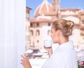 Drinking coffee near by window - PhotoDune Item for Sale