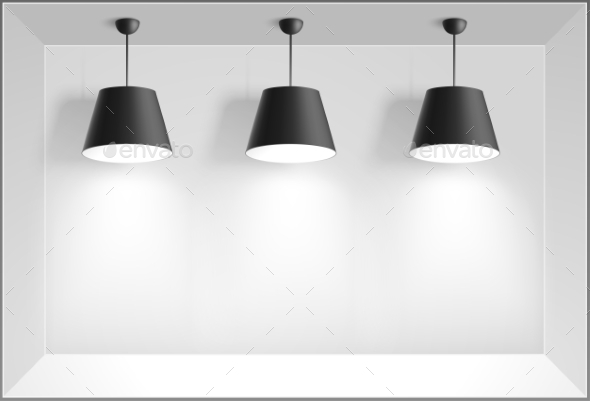 GraphicRiver Black Ceiling Lamps 10643891