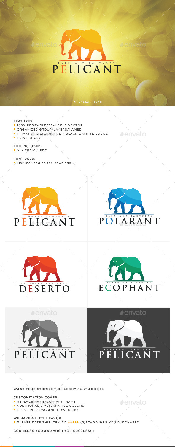 GraphicRiver Elephant Logo Template 10643904