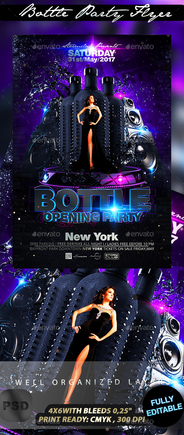 GraphicRiver Bottle Party Flyer 10643906