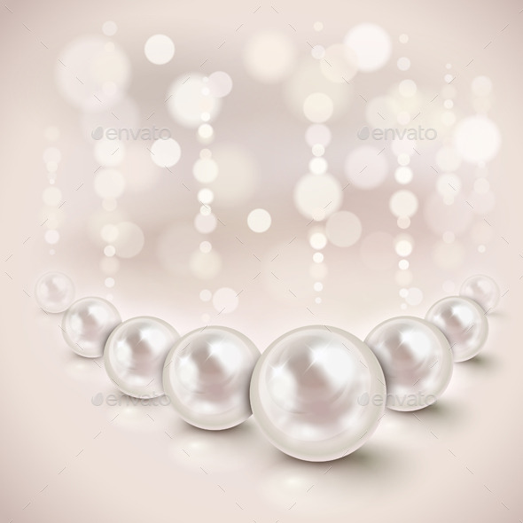 GraphicRiver White Pearls Background 10644053