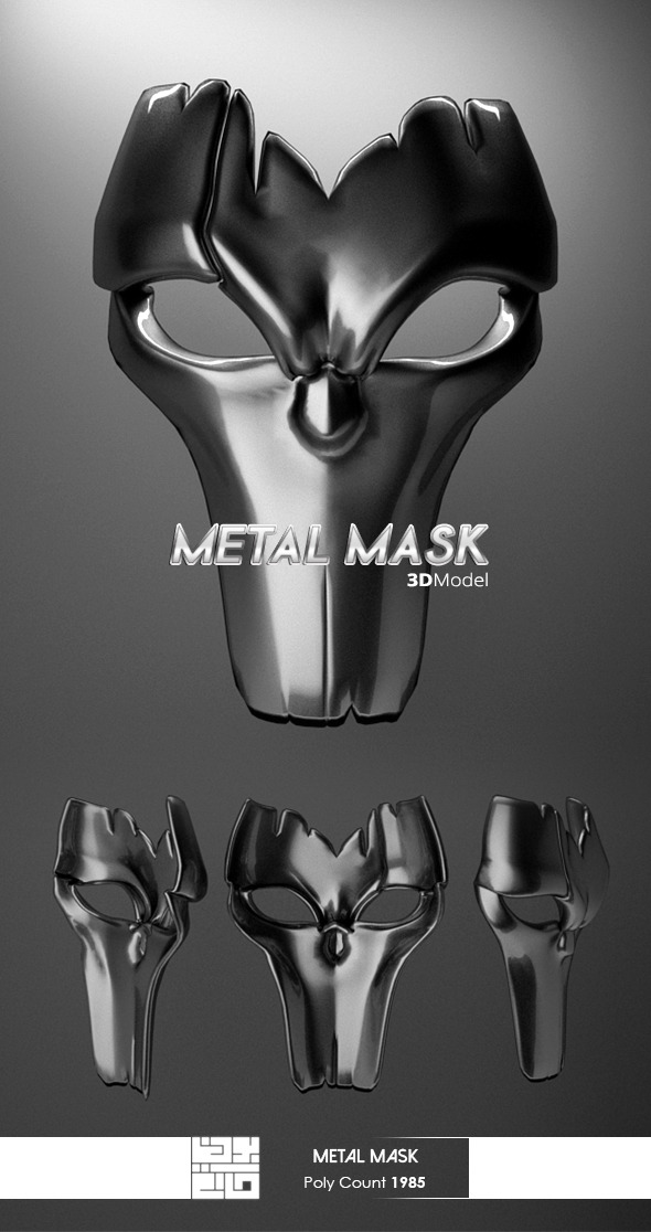3DOcean Metal Mask 3D Model 10644217