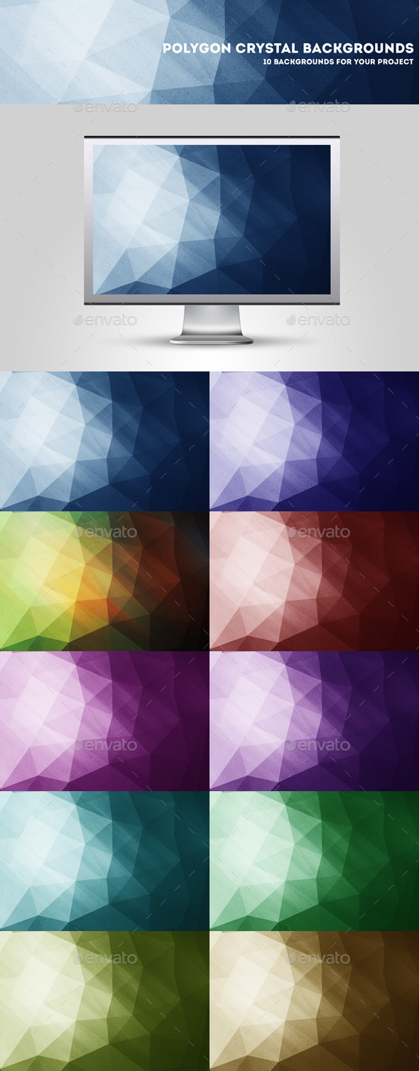 GraphicRiver Grunge Polygon Backgrounds 10644290